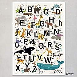 ABC Poster Kinder Alphabet Buchstaben Kinderzimmer Bilder