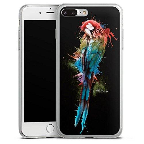 Apple iPhone X Slim Case Silikon Hülle Schutzhülle Papagei Vogel Bunt Silikon Slim Case transparent