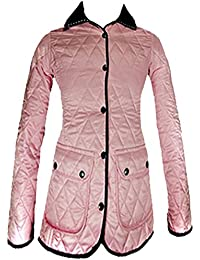 Ladies Quilted Padded Collared Jacket