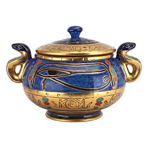 Progettazione Toscano WU00265 Antico Egitto occhio di Horus ceramica vaso