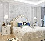 JXArt Wallpaper Relieve clásico europeo plata blanco tipo A Papel Pintado Decorativo 0.53x10m