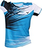 Victor shirt de l'équipe nationale féminine coréenne de badminton L Bleu/noir/blanc