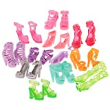 #5: Segolike 12 pairs Trendy Multiple Styles High Heel Sandal Boots Shoes for Barbie Doll Dresses Clothes