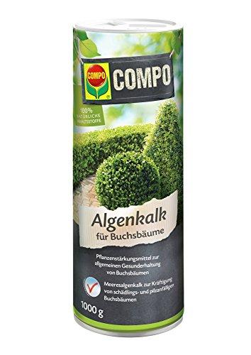 Compo Algenkalk für Buchsbäume, Pulver, Pflanzenstärkungsmittel zur Unterdrückung des Buchsbaumzünslers, 1 kg
