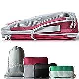 TRAVEL DUDE Packwürfel Set mit Kompression   Packing Cubes   Packtaschen Set & Gepäck Organizer...