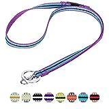 Blueberry Pet 3M Reflektor Bunte Streifen Violett und Himmelblau Herren Damen Mode Anti-Würge Umhängeband Lanyard Schlüsselband für Schlüssel / Ausweis / Anhänger mit Sicherheits-'Breakaway'-Schnalle
