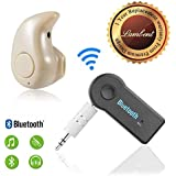 Lambent Bluetooth Car Receiver 3.5Mm Aux, Wireless Adapter With Mini V4.0 Stereo Wireless Bluetooth Headset For Latest Android & IOS Device Smartphones
