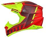 """MT Helm für Motocross, Modell """"Synchrony Spec Gloss"""", Rot und Grün, fluoreszierend L rot und neon grün"""