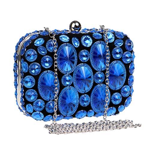 Handtasche Taschen Sparkly Abend Handtaschen Bankett Kleid Abendkleid Clutch Handtasche Geschenk Ideen - Farben Verschiedene,Blue,OneSize ()