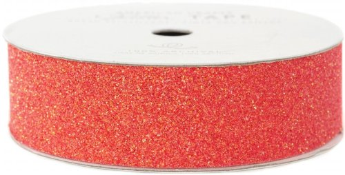 Valet Cherry (American Crafts Glitter Tape, Cherry, 7/8-Inch by American Crafts)