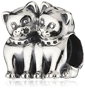 Pandora Damen-Charm 925 Sterling Silber Katzen 791119