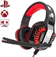 Beexcellent Gaming Headset for PS4 Xbox One PC, Noise-Isolation Headphones with Microphone Stereo Surround Sou