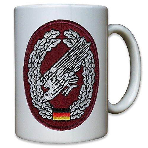 Bundeswehr Bund Bw Fallschirmjäger Barettabzeichen Abzeichen Aufnäher Patch - Tasse Kaffee Becher (Fallschirmjäger Uniform)
