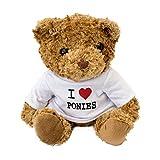 NEW - I LOVE PONIES - Cute And Cuddly Teddy Bear - Pony Gift Present Birthday Xmas