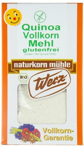 Werz Quinoa-Vollkorn-Mehl glutenfrei, 1er Pack (1 x 500 g Karton) - Bio (Bio-vollkorn-mehl)