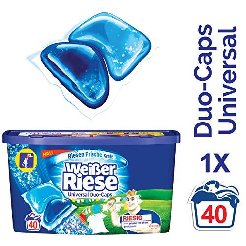 Weißer Riese Duo-Caps Universal, Vollwaschmittel, 40 Waschladungen, extra stark gegen Flecken