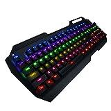 VicTsing 104Tasten Tastatur Gaming Mechanische mit LED RGB Kap Key B. Puller für Spieler, Dactylo etc.