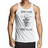 lepni.me N4690V Weste Born to Ride! Motorcycle Clothing (Medium Weiß Mehrfarben)