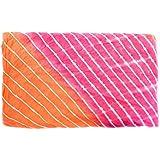 Handicraft-Palace Dress Making & Home Furnishing Shibori Tie Dye Stripe Printed Fabric (Pink_Cotton_1 Meter)