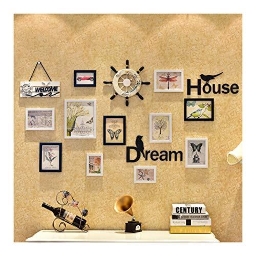 Ppzmd Fotowanddekoration Einfache Moderne Kreative Persönlichkeit Kombination Fotowand 28 Rahmen Wohnzimmer Großes Gesicht Wandrahmen Wand (Color : A)