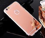 Hancda Specchio Cover per iPhone 6 / iPhone 6S, Custodia Cover Specchio Mirror Case Silicone Ultra Slim Sottile Elegante Antiurto Protettiva per iPhone 6 / iPhone 6S,Oro Rosa