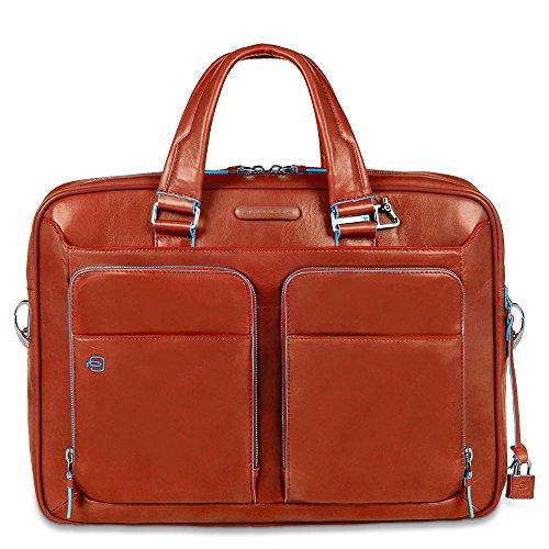 Piquadro CA2849B2 Borsa, Collezione Blu Square, Arancione