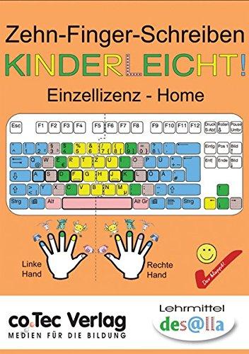 Zehn-Finger-Schreiben - Kinderleicht!, 1 CD-ROM Lernspaß mit den Daumenschweinen. Einzellizenz - Home. Version 2.0. Für Windows ab 9x