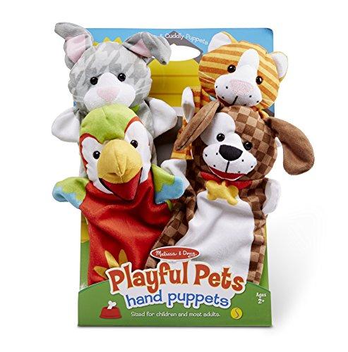 Melissa & Doug Handpuppen Verspielte Haustiere