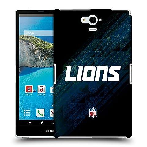 Officiel NFL Tache Detroit Lions Logo Étui Coque D'Arrière Rigide Pour Sharp Aquos Pad SH-06F