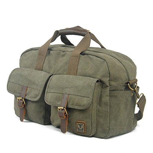 Etasche Damen Herren Vintage Canvas Weekender Tasche Canvas Reisetasche Vintage Sprottasche (Armee Grün) Armee Grün