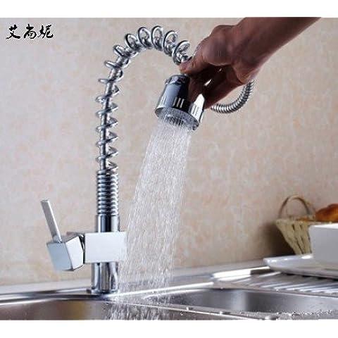Furesnts casa moderna cucina e il lavandino del bagno rubinetti una piccola molla fourparty miscelatore acqua calda e fredda Miscelatore lavandino del bagno rubinetti,(Standard G 1/2 tubo flessibile universale
