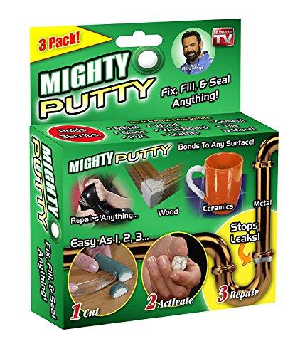 2018New Mighty Putty Epoxy Klebstoff Clay Power Fix Seal Gap Lücke Permanent Reparatur für Metall Fiberglas Holz Kunststoff 3Tubes/Set - Putty Epoxy-bond