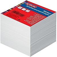 Herlitz 1603000Notelet Box di ricambio Inserto, 700fogli 9x 9cm, colore: bianco