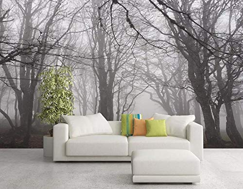 Carta da parati 3d boschi bianco e nero foresta moderna fotomurali 3d photo wallpaper murale