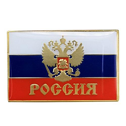 Gudeke Russland russisch Land Flagge Brosche Revers Anstecker Russisches Reichs-Flagge Abzeichen für Herren -