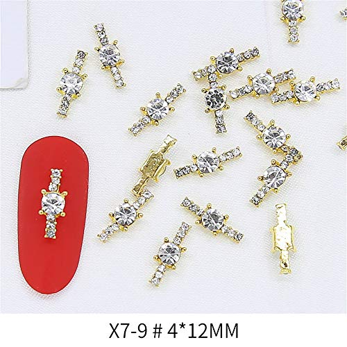 Strasssteine,Einfache Nail Art Metalllegierung Dekoration Mond Kreis Nägel Mode Accessoires Exquisite, X7-9 (Single) -