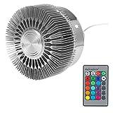 Bonega 3W LED Deckenleuchte Design Deckenlampe Effektleuchte Flurlampe Alu RGB