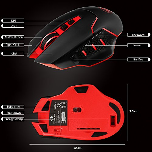 Redragon M690 Wireless Gaming Mouse 51RyOCp7Q L
