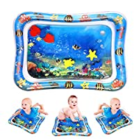 Bestmaple Premium Inflatable Tummy Time Water Mat for Infants & Toddlers, Baby Play Mat Toys, The Fun Time Play Activity Center Your Baby's Stimulation Growth