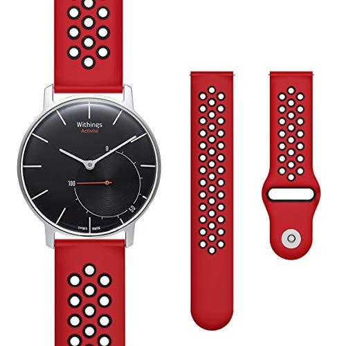Hanlesi Armband Kompatibel mit Withings Steel HR Sport Watch 36mm, 18mm Silikon Uhrenarmband Zubehör Ersatz für Withings Activite Pop Wristband