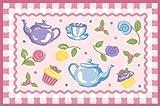 LA Rug Olive Kids Tea Party Rug 19x29