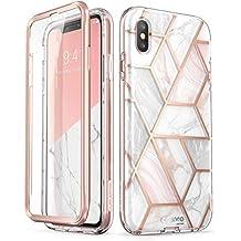 i-Blason Funda iPhone XS MAX Transparente para Chispa [Cosmo] con Protector de