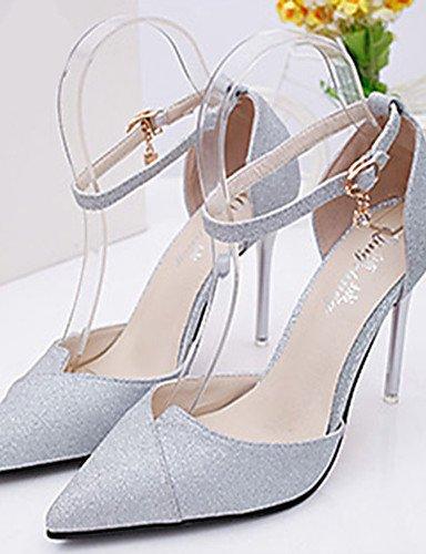 WSS 2016 Chaussures Femme-Mariage / Habillé / Décontracté / Soirée & Evénement-Noir / Blanc / Argent / Or-Gros Talon-Bout Pointu-Talons- black-us8 / eu39 / uk6 / cn39