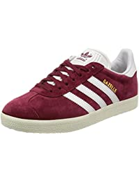 Adidas Gazelle Collegiate Burgundy/White/Gold Metallic