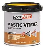 Toupret 470020 - Masilla para colocación/enmasillado de cristales, color blanco, pack de 4