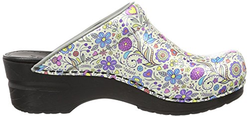 Sanita Damen Isalena Open Clogs Mehrfarbig (Multicolour)