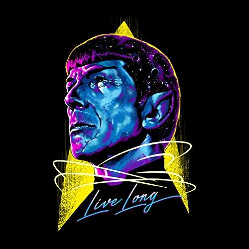 Star Trek Live Long Spock Womens Sweatshirt Black