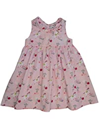Powell Craft Robe de fille.Cheval Conception.100% Coton.rose