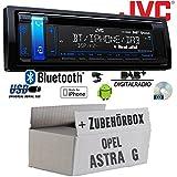 Opel Astra G - JVC KD-DB98BT - Bluetooth | DAB+ | CD | MP3 | USB | Android | iPhone Autoradio - Einbauset