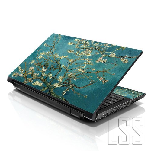 LSS 17 17.3 Pollici Laptop Notebook Skin Cover adesiva Decal Adatta per 16.5' 17' 17.3' 18.4' 19' HP Dell Apple Asus Acer Lenovo Asus Compaq (2 adesivi sotto polsi inclusi gartuitamente) Almond Trees